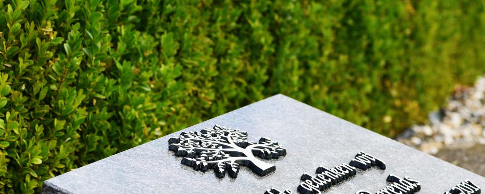 Een voorbeeld van een urnmonument