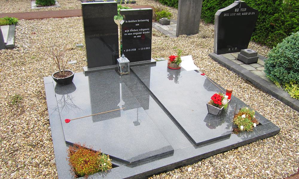 Dubbele grafsteen, grafmonument | Ariës Natuursteen