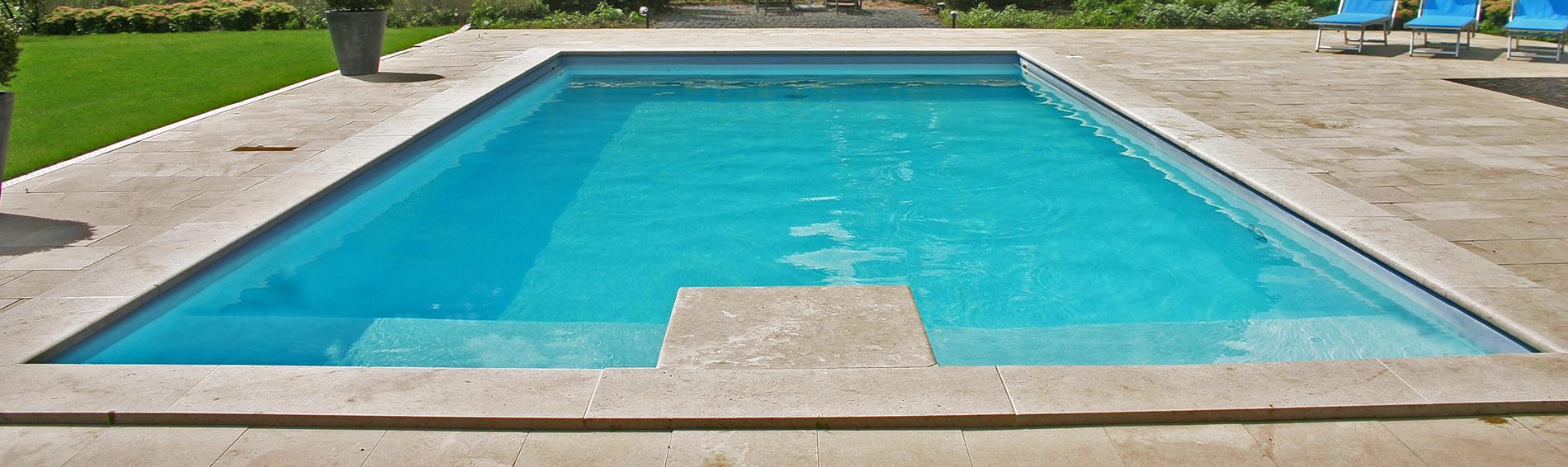 Zwembad met natuursteen | Ariës Natuursteen, Gelderland