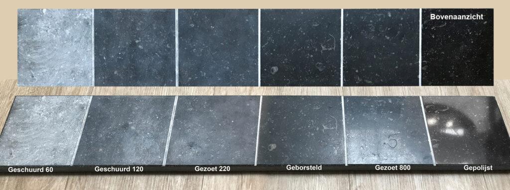 De verschillende afwerkingen van natuursteen